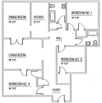 Apartment Floor Plans Two Bedroom Apartments In Clifton Park New   Traymore  Apartments C A White. Apartment Floor Plans With Dimensions   Interior Design